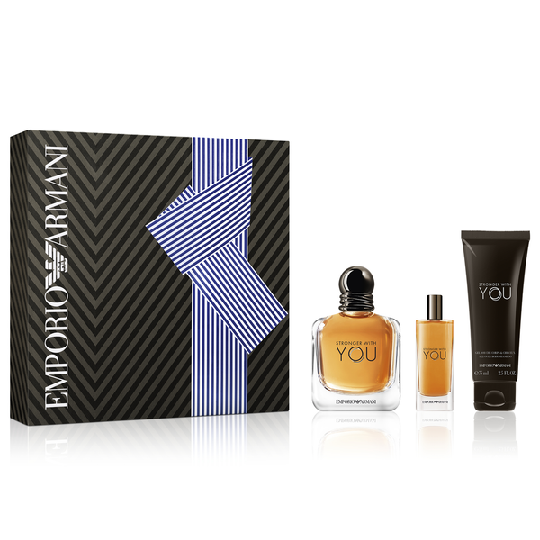 Stronger With You by Giorgio Armani 100ml EDT 3pc Gift Set