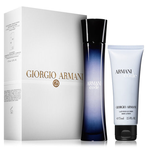 Armani Code by Giorgio Armani 75ml EDP 2 Piece Gift Set