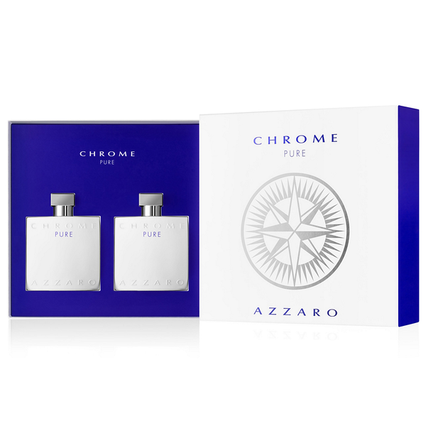 Azzaro Chrome Pure by Azzaro 100ml EDT 2 Piece Gift Set