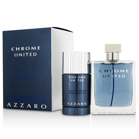 Azzaro Chrome United 100ml EDT 2 Piece Gift Set
