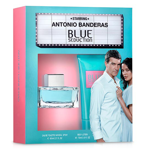 Blue Seduction by Antonio Banderas 80ml 2 Piece Gift Set