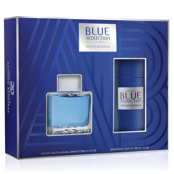 Blue Seduction by Antonio Banderas 100ml EDT 2pc Gift Set
