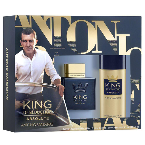 King of Seduction Absolute by Antonio Banderas 100ml EDT 2 Piece Gift Set