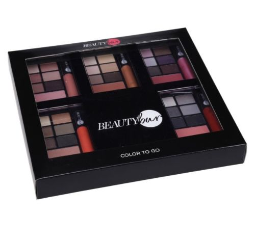 Beauty Bar Color To Go Palette 30 eyeshadows, 5 blushes & 5 lipglosses
