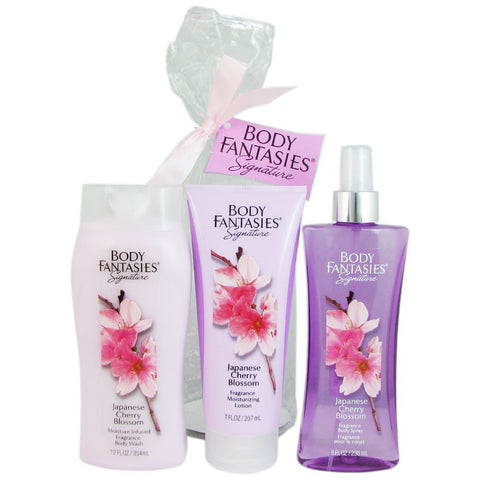 Body Fantasies Japanese Cherry Blossom 236ml 3 Piece Gift Set