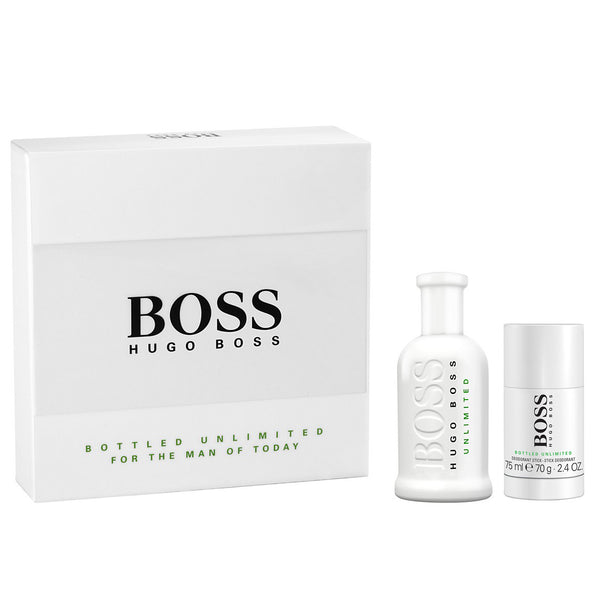 Boss Unlimited by Hugo Boss 100ml EDT 2 Piece Gift Set