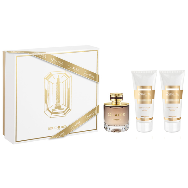 Quatre Absolu De Nuit by Boucheron 100ml EDP 3pc Set