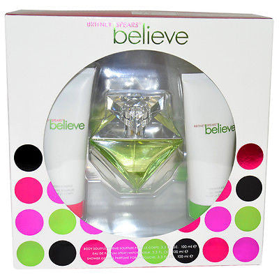Believe by Britney Spears 100ml EDP 3 Piece Gift Set