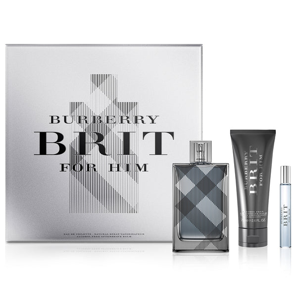 Burberry Brit by Burberry 100ml EDT 3 Piece Gift Set