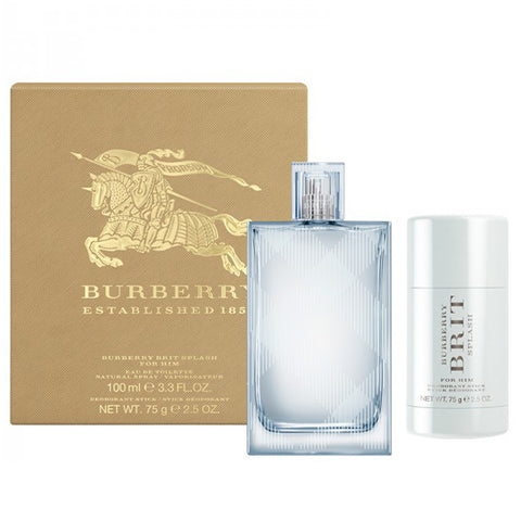Burberry Brit Splash 100ml EDT 2 Piece Gift Set