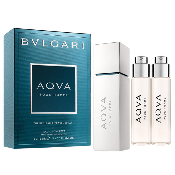 Aqva Pour Homme by Bvlgari 45ml EDT 3 Piece Set