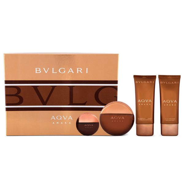 Aqva Amara by Bvlgari 100ml EDT 4 Piece Gift Set