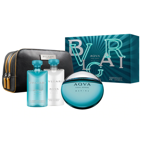 Bvlgari Aqva Marine by Bvlgari 100ml EDT 4 Piece Gift Set