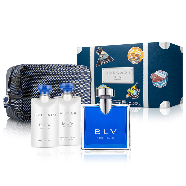 BLV Pour Homme by Bvlgari 100ml EDT 4 Piece Gift Set