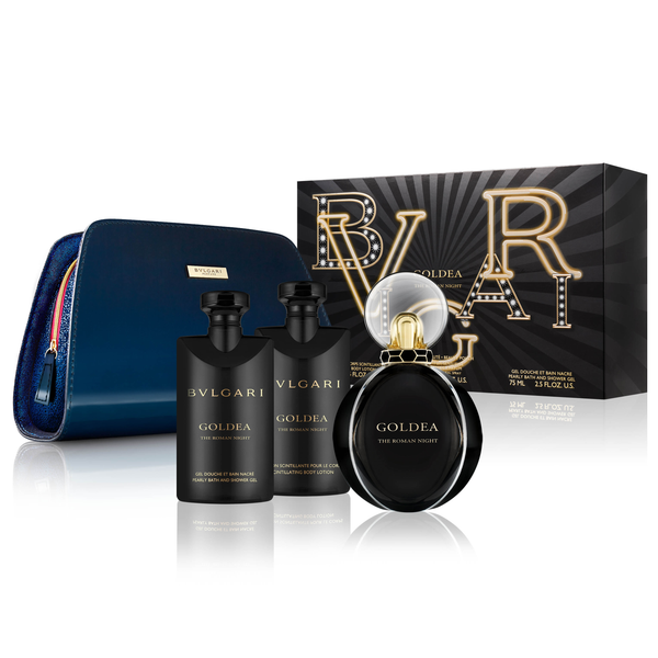 Goldea The Roman Night by Bvlgari 75ml EDP 4 Piece Gift Set