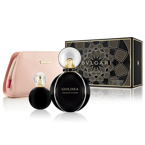Goldea The Roman Night by Bvlgari 75ml EDP 3 Piece Gift Set