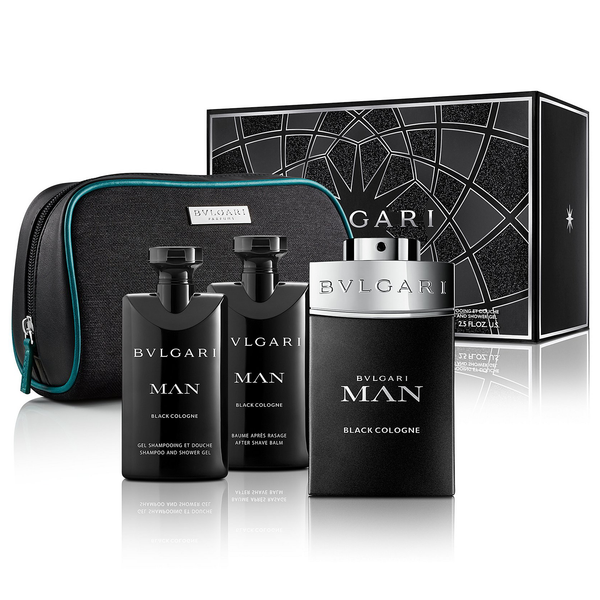 Man Black Cologne by Bvlgari 100ml EDT 4 Piece Gift Set