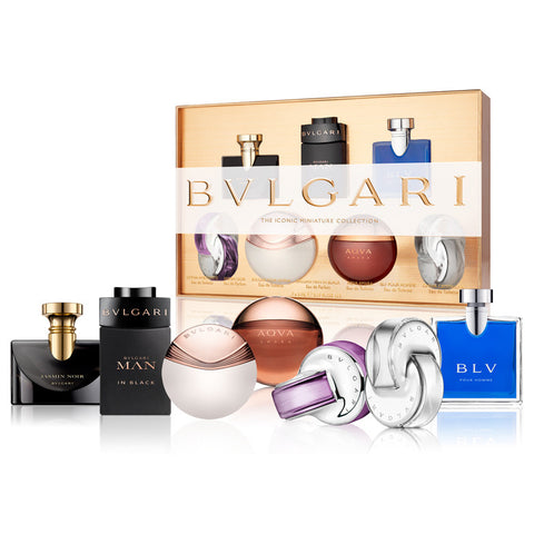 Bvlgari The Iconic Miniature Collection 7 Piece Gift Set for Men & Women