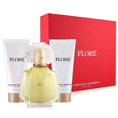 Flore by Carolina Herrera 100ml EDP 3 Piece Gift Set