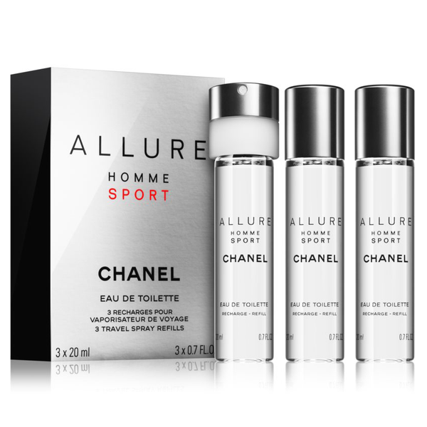 Allure Homme Sport by Chanel 3x 20ml EDT Travel Refills