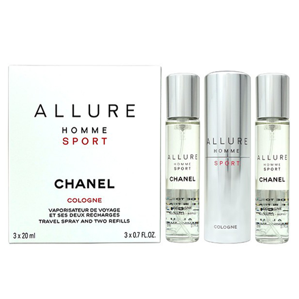 Allure Homme Sport by Chanel 3x 20ml EDT Cologne Spray