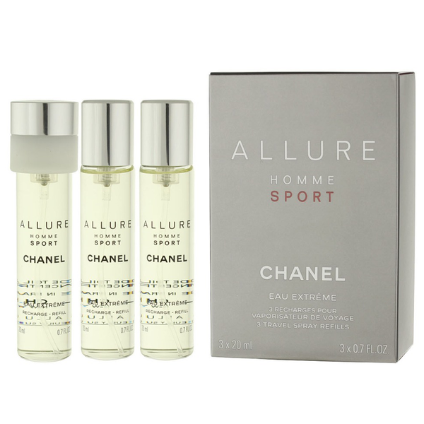 Allure Homme Sport Extreme by Chanel 3x 20ml EDP Refills