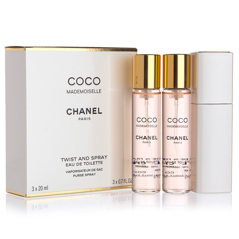 5c9e4f86 Coco Mademoiselle by Chanel 3x 20ml Twist and Spray