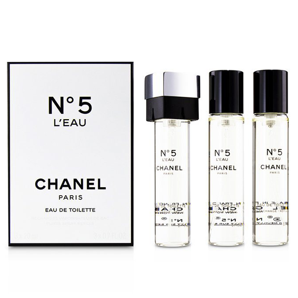 Chanel No.5 L'Eau by Chanel 3x 20ml EDT Refills