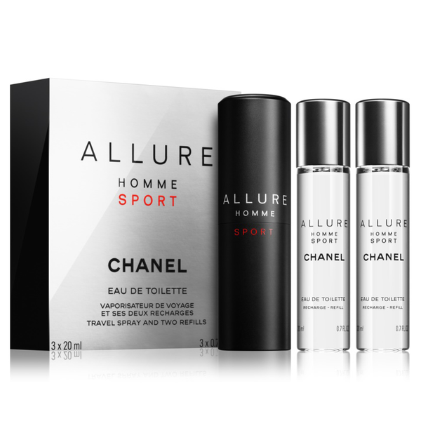 1915260052059 Allure Homme Sport by Chanel 3x 20ml EDT Travel Spray