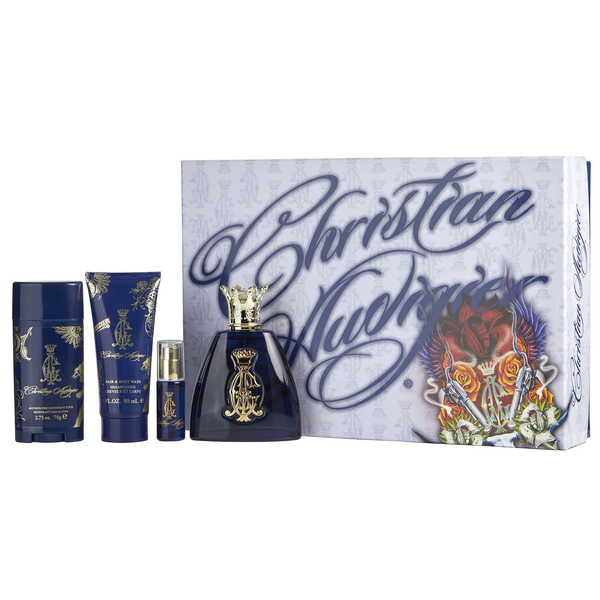 Christian Audigier 100ml EDT 4 Piece Gift Set for Men