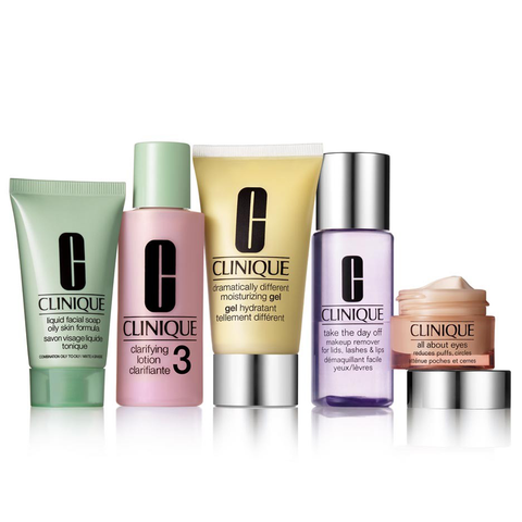 Clinique Daily Essentials 5 Piece Set - Combination To Oily Skin