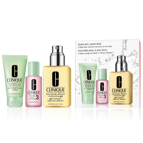 Clinique Great Skin Starts Here 3 Piece Set - Combination Oily Skin