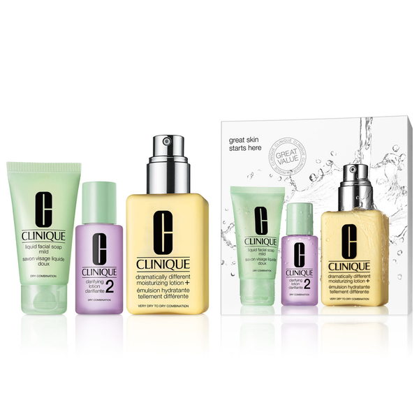Clinique Great Skin Starts Here 3 Piece Set - Dry Combination Skin