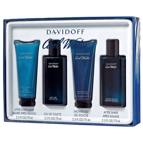 Cool Water by Davidoff 75ml EDT 4 Piece Gift Set