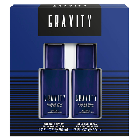 Gravity by Coty 2x 50ml Cologne 2 Piece Gift Set