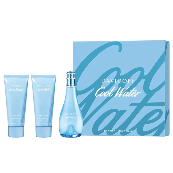 Cool Water by Davidoff 100ml EDT 3 Piece Gift Set