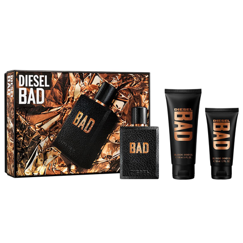 Diesel Bad by Diesel 75ml EDT 3 Piece Gift Set