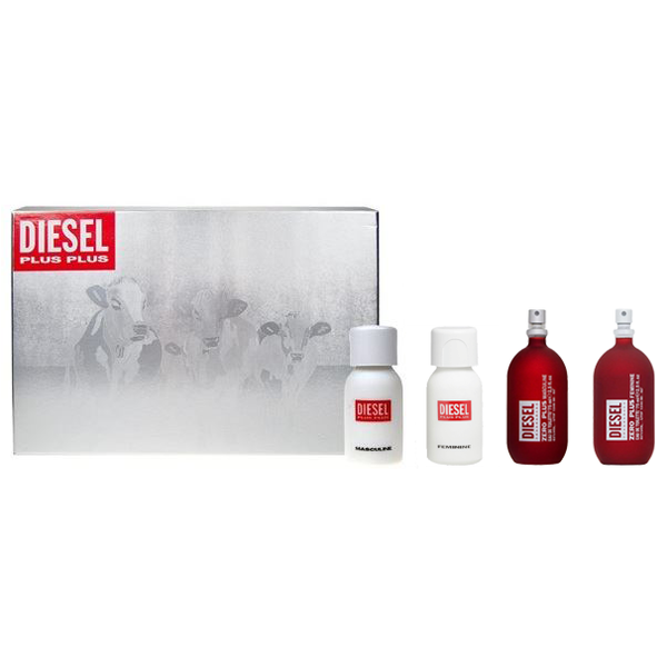 Diesel Plus Deluxe Collection 4 Piece Gift Set for Men & Women