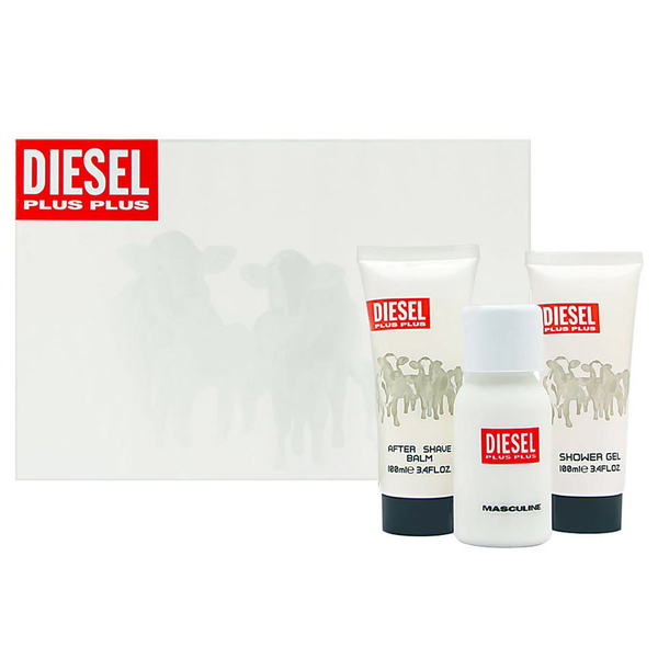 Diesel Plus Plus Masculine 75ml EDT 3 Piece Gift Set
