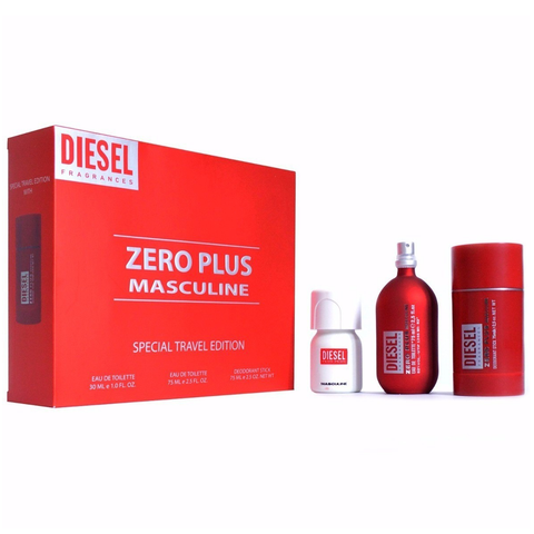 Diesel Zero Plus 75ml EDT 3 Piece Gift Set