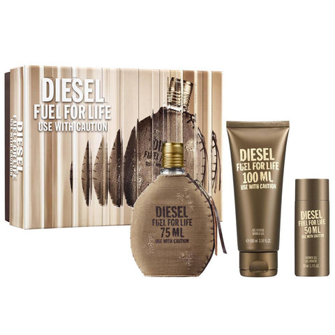 Fuel for Life by Diesel 75ml EDT 3 Piece Gift Set