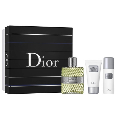 Eau Sauvage by Christian Dior 100ml EDT 3 Piece Gift Set