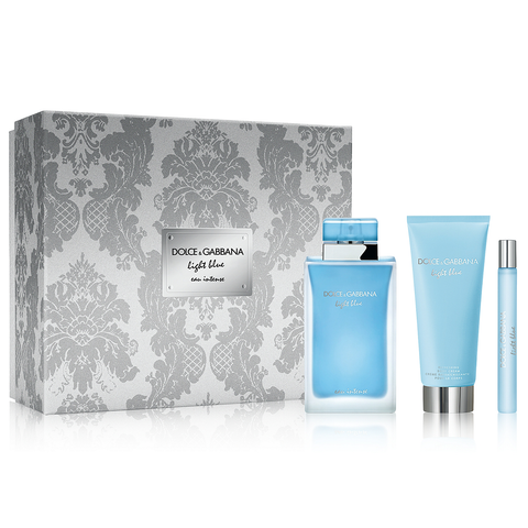 Light Blue Eau Intense by D&G 100ml EDP 3 Piece Gift Set