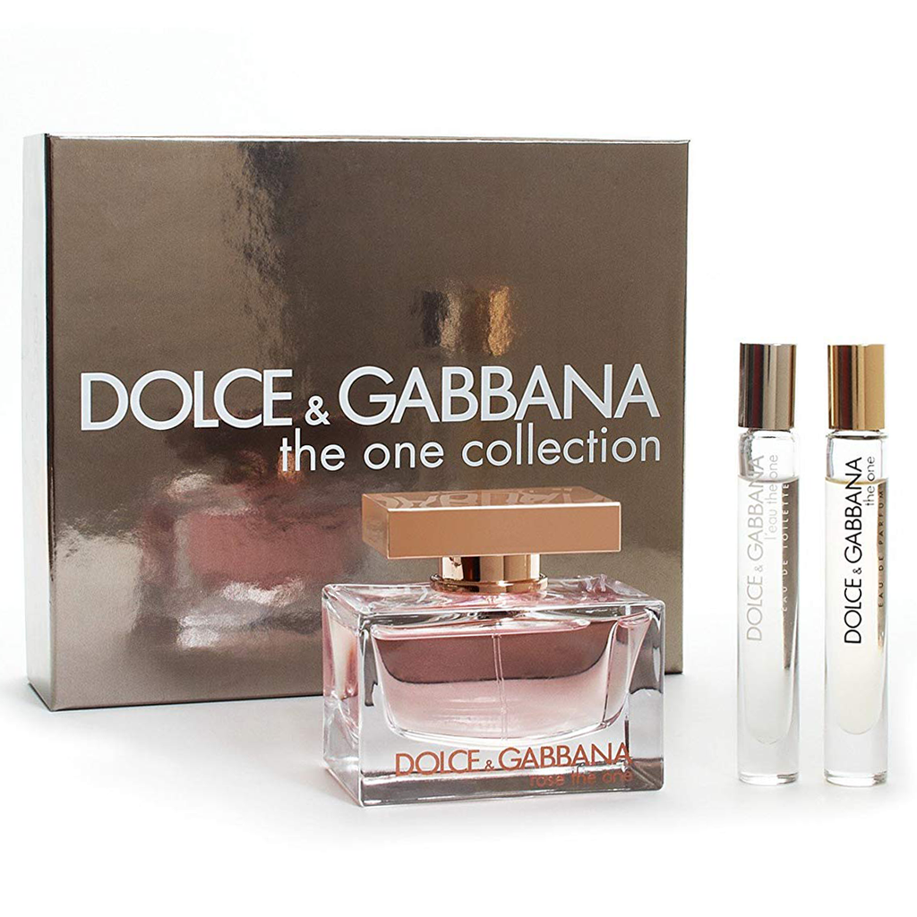 8606431607 Rose The One by Dolce & Gabbana 75ml EDP 3pc Gift Set | Perfume NZ