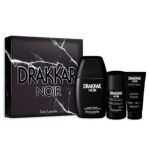 Drakkar Noir by Guy Laroche 100ml EDT 3 Piece Gift Set