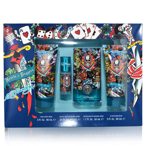 Ed Hardy Hearts & Daggers 50ml EDT 4 Piece Gift Set
