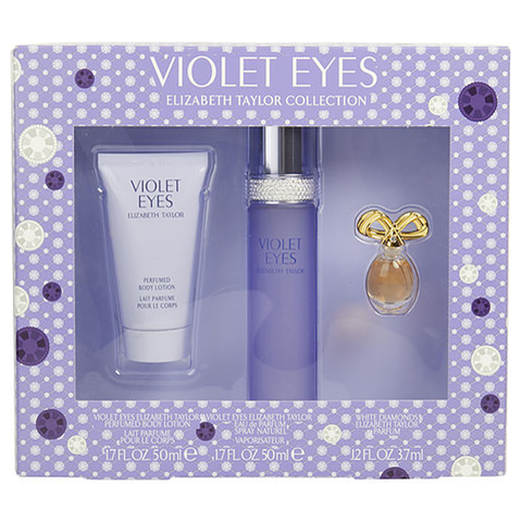 Violet Eyes by Elizabeth Taylor 50ml EDP 3 Piece Gift Set