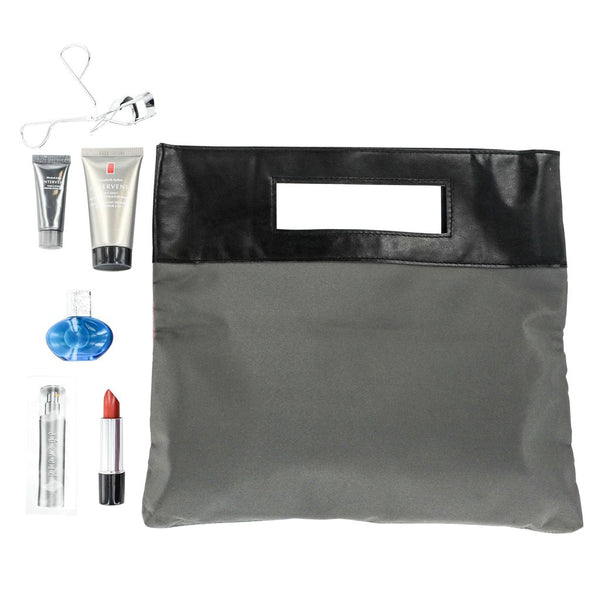 Elizabeth Arden Mini Makeup 7 Piece Gift Set in Plum/Grey Bag