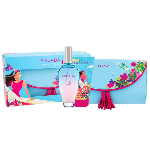 Sorbetto Rosso by Escada 100ml EDT 3 Piece Gift Set