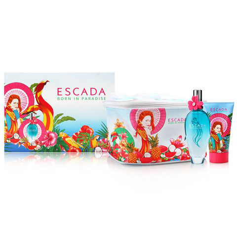 Escada Born in Paradise 100ml EDT 3 Piece Gift Set